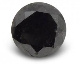 1.43 ct Round Black Diamond