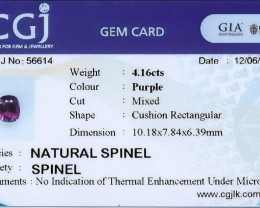 Certified no heat natural spinel.