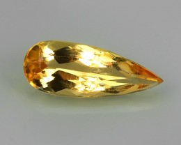 1.25~CT GORGEOUS PEAR NATURAL BRAZILIAN YELLOW GOLDEN IMPERIAL TOPAZ!!