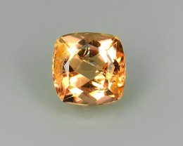 BEAUTIFULCUSHION NATURAL TOP-YELLOWISH-ORANGE-PRECIOUS- IMPERIAL-TOPAZ!!