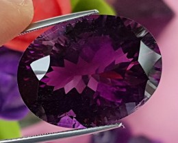 39.89cts Amethyst, Concave Cut, GIANT stone