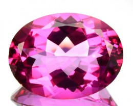 10.60 Cts Candy Pink Natural Topaz 16 x 12 mm Oval Cut Brazil