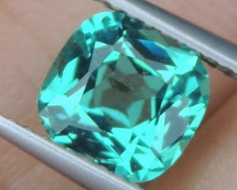 1.88cts Neon Apatite,  Jaw Dropping Luster, Calibrated