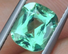 1.97cts Neon Apatite,  Jaw Dropping Luster, Calibrated