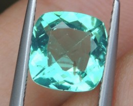 2.14cts Neon Apatite,  Jaw Dropping Luster, Calibrated