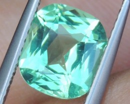 2.27cts Neon Apatite,  Jaw Dropping Luster, Calibrated