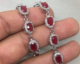 (B1) Gorgeous Nat 68.0tcw  Red Ruby  Bracelet