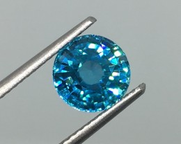 2.78 Carat IF Zircon Caribbean Blue - Ultimate Quality and Flash !