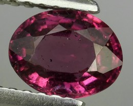 1.00 CTS EXQUISITE NATURAL UNHEATED PURPLE-PINK COLOR OVAL RHODOLITE GARNET