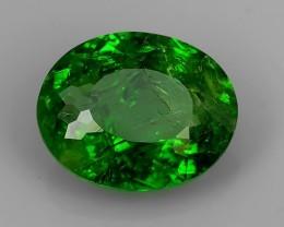 2.90 Cts Sparkling Luster - Oval Gem - Natural Fine Green Tourmaline!!
