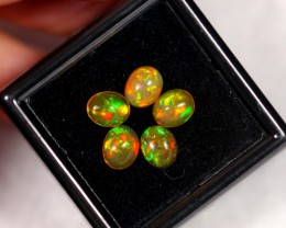 1.92cts 6x5mm Ethiopian Welo Polished Opal Parcel Lot