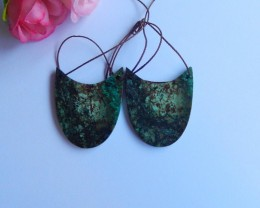 40ct Natural African turquoise  Earring Pair(18091155)