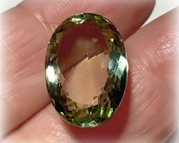 16.70ct Shimmering  Cut Green Amethyst  (Prasiolite) - NO RESERVE AU