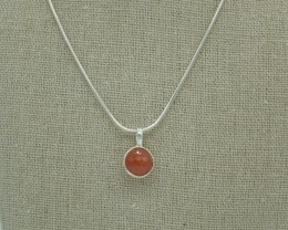 NATURAL UNTREATED CARNELIAN PENDANT 925 STERLING SILVER JE949