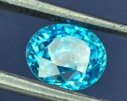 1.90 ct Blue Zircon~Cambodia