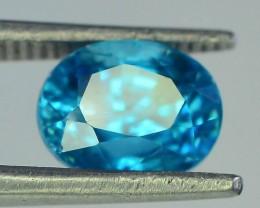 Top Color 1.95 ct Blue Zircon~Cambodia