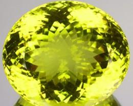 ~AMAZING~ 52.25 Cts Natural Prasiolite / Lemon Quartz Oval Cut Brazil