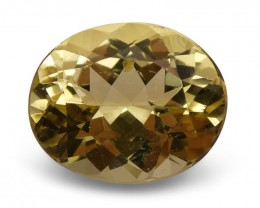 3.67 ct Oval Heliodor / Golden Beryl- $1 No Reserve Auction