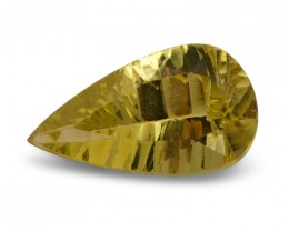 2.39 ct Pear Heliodor / Golden beryl - $1 No Reserve Auction