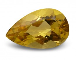 1.95 ct Pear Heliodor / Golden Beryl - $1 No Reserve Auction