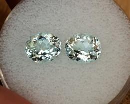 4,46ct Aquamarine pair