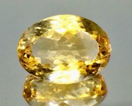 11.93 Crt Natural Citrine Faceted Gemstone.( AG 56)