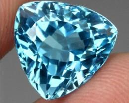 (B1) Gorgeous 15.65 ct Trillion 100% Natural blue Topaz from Brazil