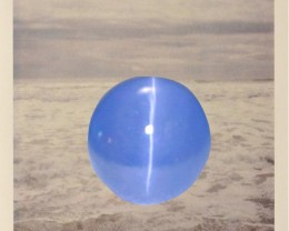 6.88ct Cat's Eye Blue Sapphire Unheated Sri Lanka