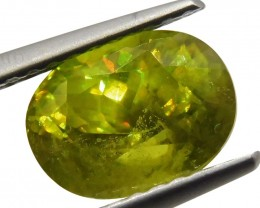 2.09 ct Oval Sphene- $1 No Reserve Auction