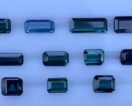 8.54cts Green Blue Tourmaline Gemstones  Piece
