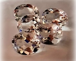 A Superb gem parcel of Silver White Topaz gems 9.0 x7.00mm VVS 5 gems