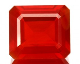 3.20 Cts Natural Orange Red Fire Opal Octagon Mexican