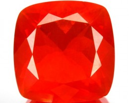 3.31 Cts Natural Orange Red Fire Opal Cushion Mexican