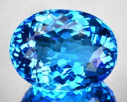 19.66 Cts Natural Swiss Blue Topaz Oval Brazil