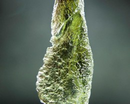 Glossy Moldavite with Yellowgreen color with CERTIFICATE