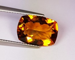 4.91 ct Beautiful Golden Whiskey Cushion Cut Natural Citrine