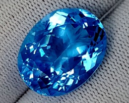 29.60CT SWISS BLUE TOPAZ  BEST QUALITY GEMSTONE IGC513