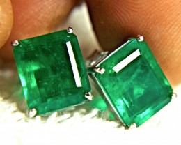 27.39 Tcw. Emerald Doublet Earrings