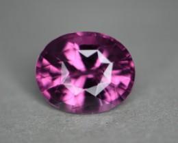3.53 cts certified purplish pink gem quality spinel.