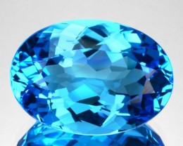 9.11 Cts Natural Swiss Blue Topaz Oval Brazil
