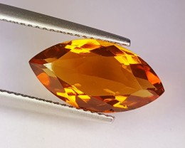 3.65 ct Top Quality Marquise Cut Natural Golden Whiskey Citrine