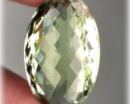 25.00ct Sparkling Checker Cut Green Amethyst  (Prasiolite) -