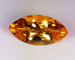 3.70 ct Exclusive Golden Whiskey Marquise Cut Natural Citrine