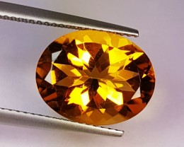5.80 ct Top Grade Golden Whiskey Oval Cut Natural Citrine