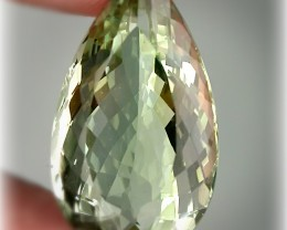 15.90ct  Superb Cut Green Amethyst  (Prasiolite) -