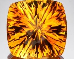 13.37 Cts Natural Golden Orange Citrine Concave Cut Brazil