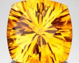 8.99 Cts Natural Golden Orange Citrine Concave Cut Brazil