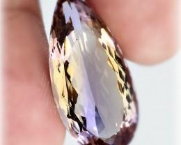 17.20ct Pale Pastel Ametrine VVS Quality stone -