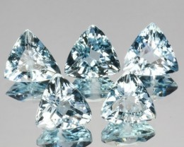 ~TRILLION~ 3.72 Cts Natural Nice Blue Aquamarine 5 Pcs Brazil