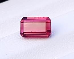 1.70 Ct Natural Reddish Transparent Ring Size Rubellite Tourmaline Gem